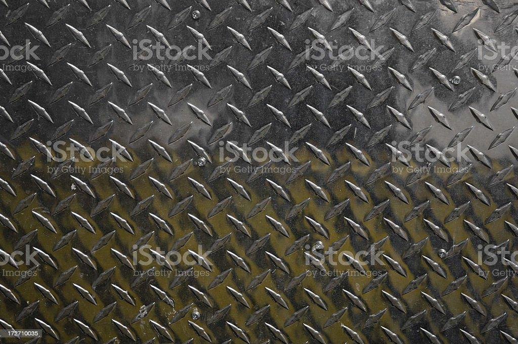 Stamped, diamond  metal plate stock photo