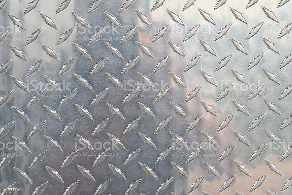 Stamped Metal Texture, Diamond Plate. royalty-free stock photo