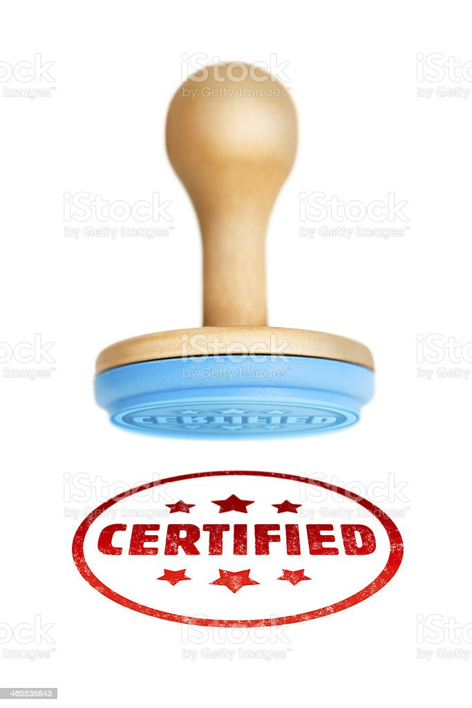 CERTIFIED stamped on to a white surface royalty-free stock photo