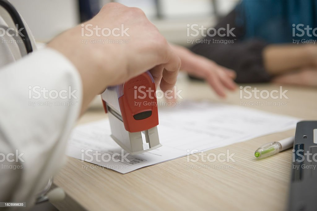 Stamping royalty-free stock photo