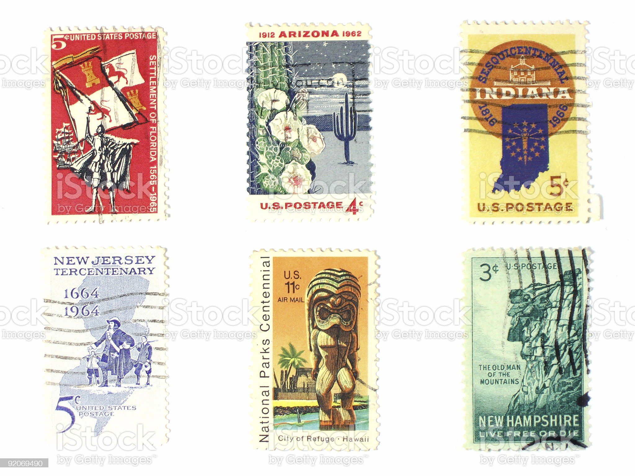 Stamps: US vintage royalty-free stock photo