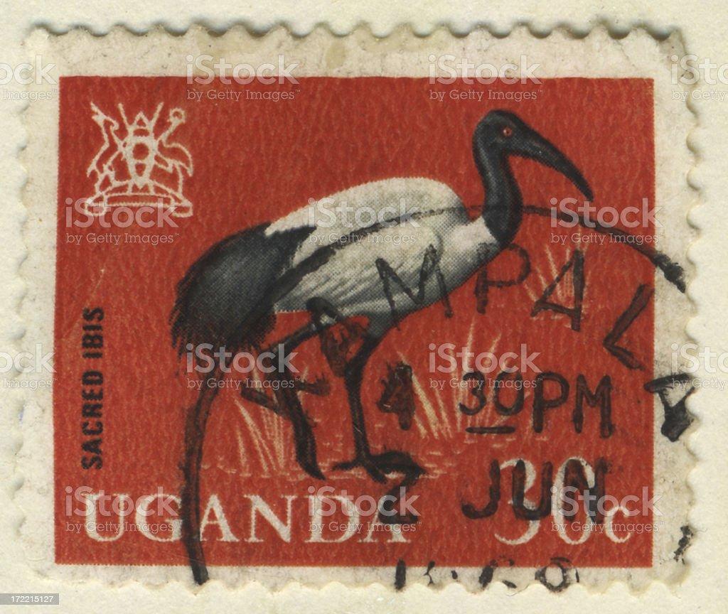 Stamp-Uganda 30 royalty-free stock photo