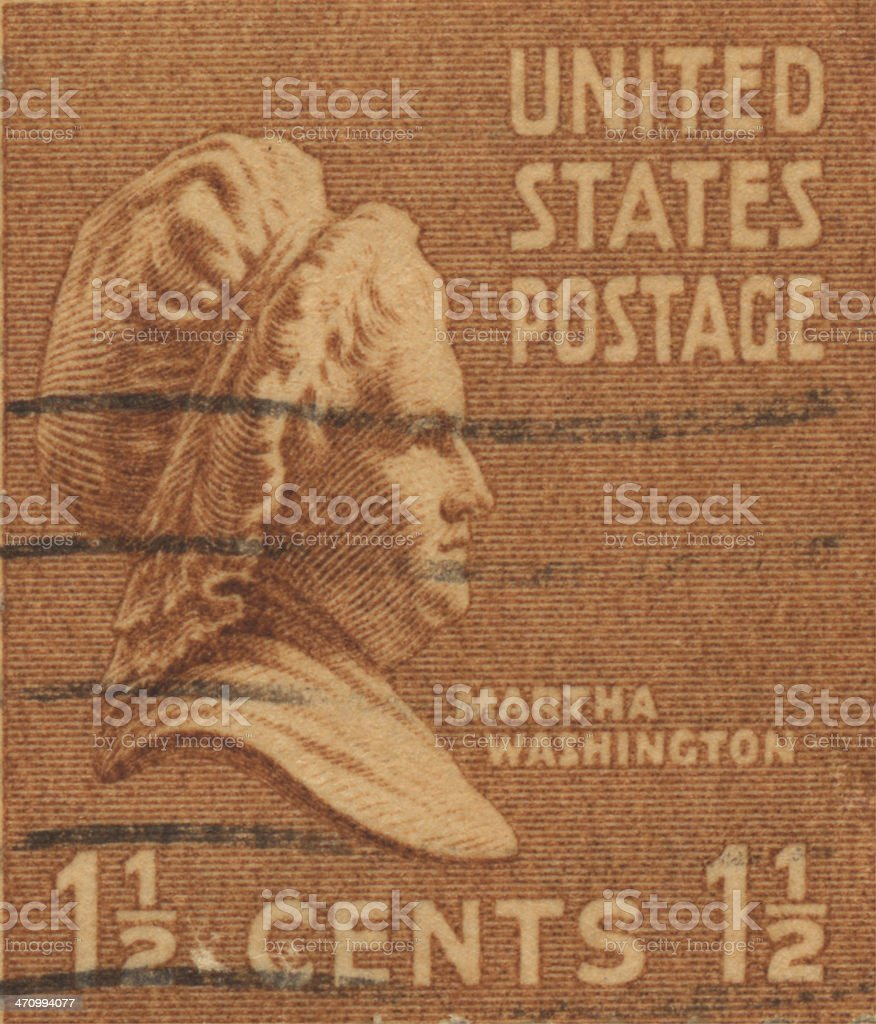 Stamp-US 1 1/2 royalty-free stock photo