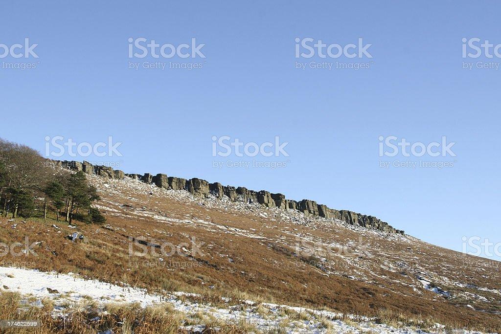 Stanage Edge - Peak District National Park, England stock photo