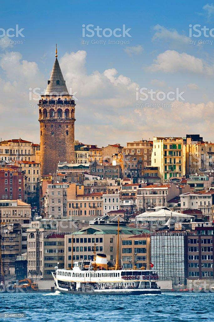 İstanbul, Galata tower stock photo