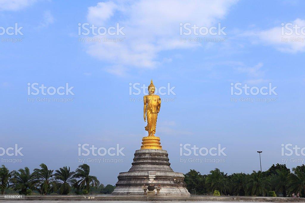 stand buddha image stock photo