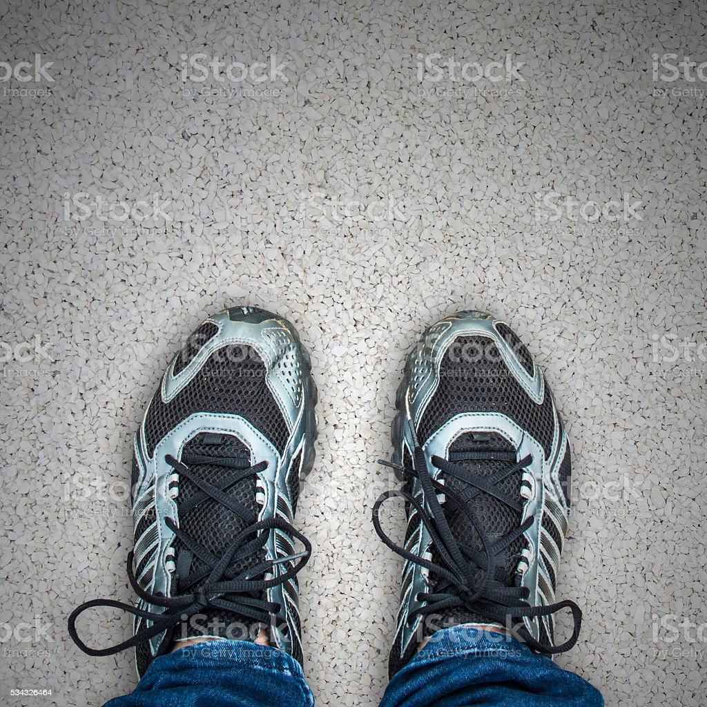 stand foot stock photo