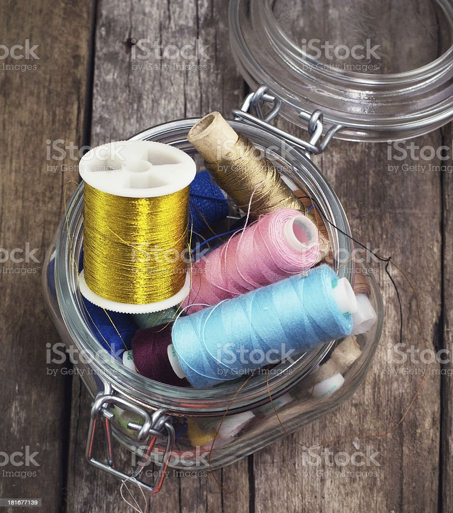 stand for needles and thread royalty-free stock photo