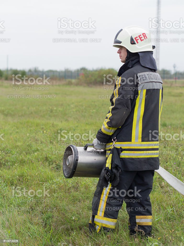 stand on the alert stock photo