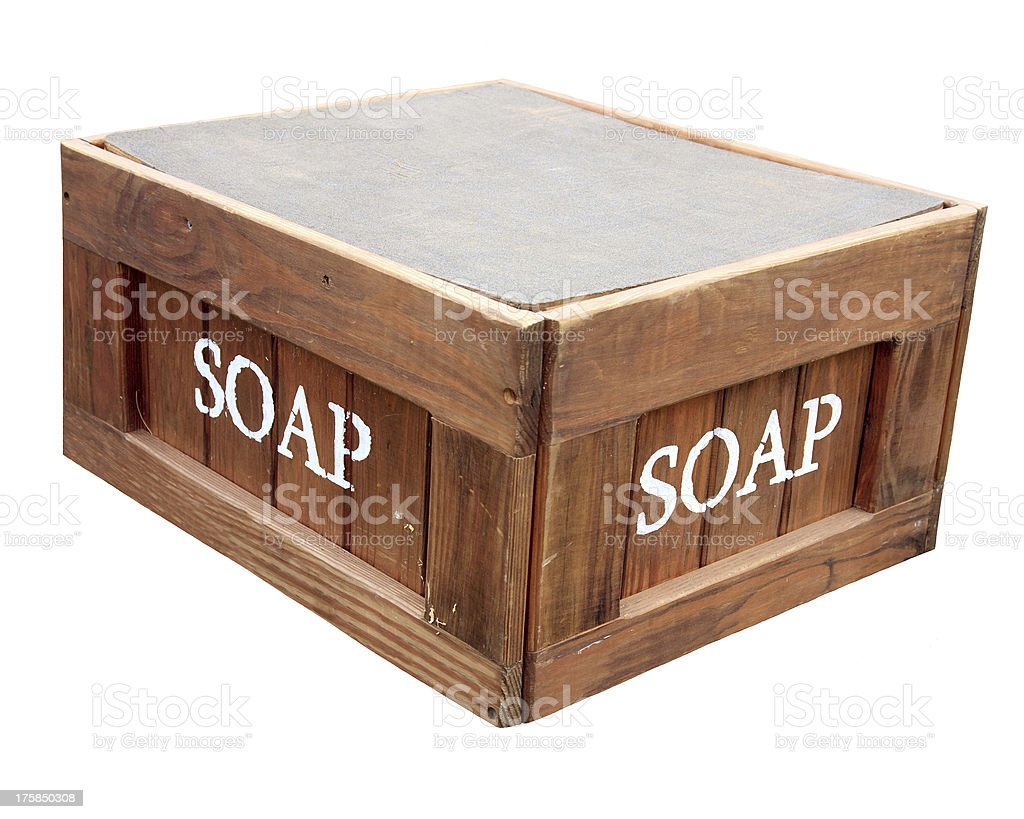 Stand On Your Soapbox stock photo