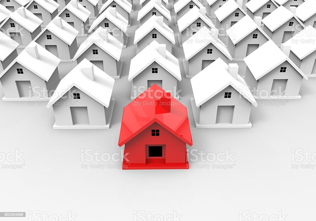 Stand Out From Crowd House stock photo