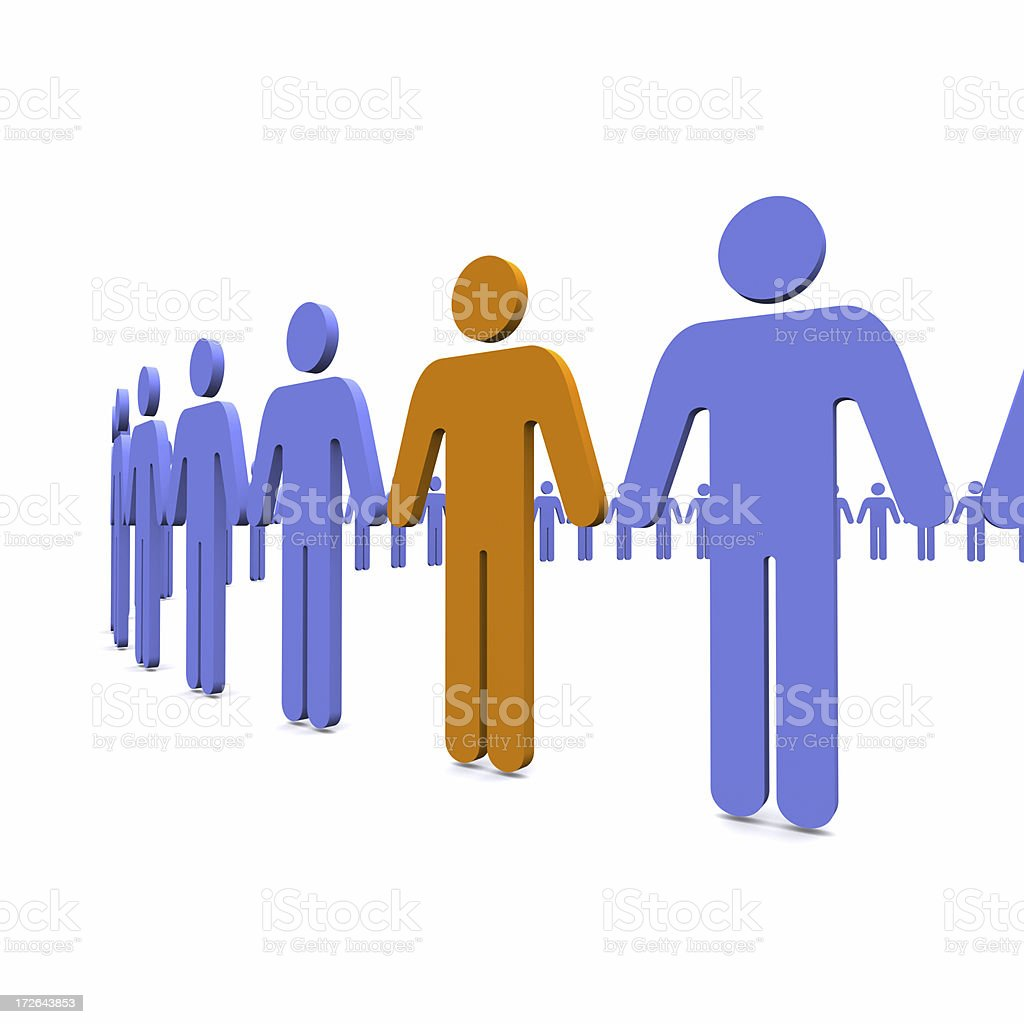 Stand Out From The Crowd royalty-free stock photo