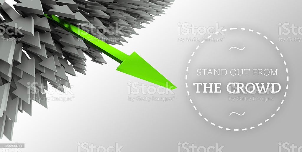 Stand out from the crowd with arrow individuality royalty-free stock photo
