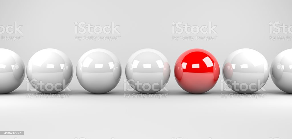 Stand out from the masses stock photo