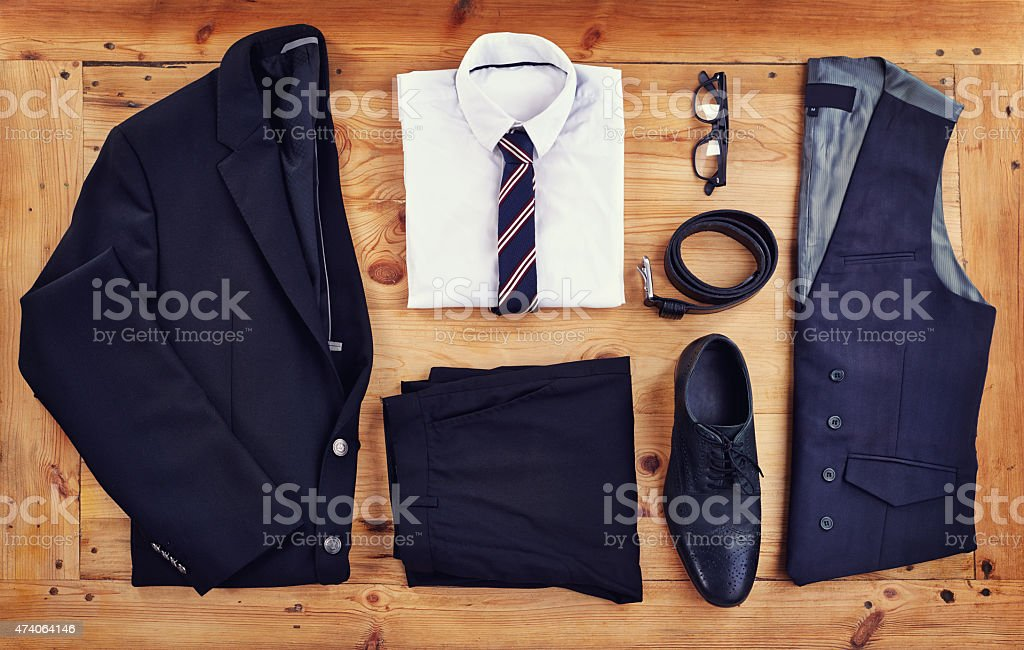 Stand out in the workplace with this stylish outfit stock photo