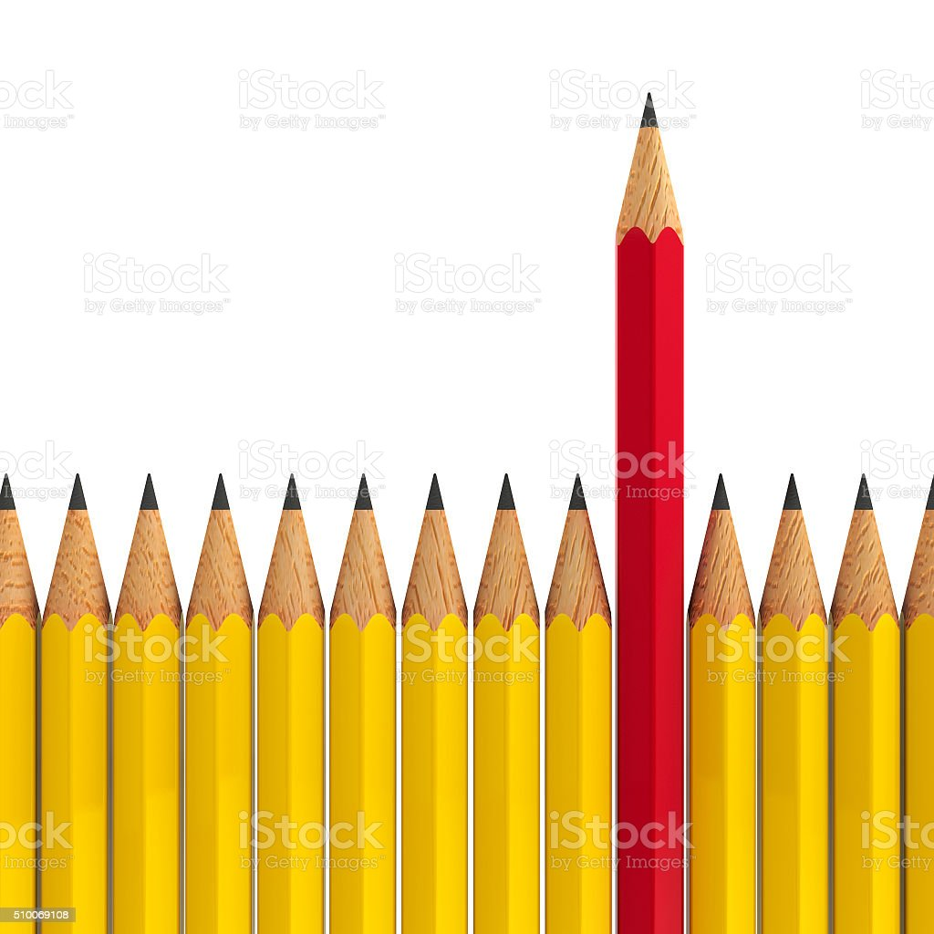 Stand out - pencils #2 stock photo