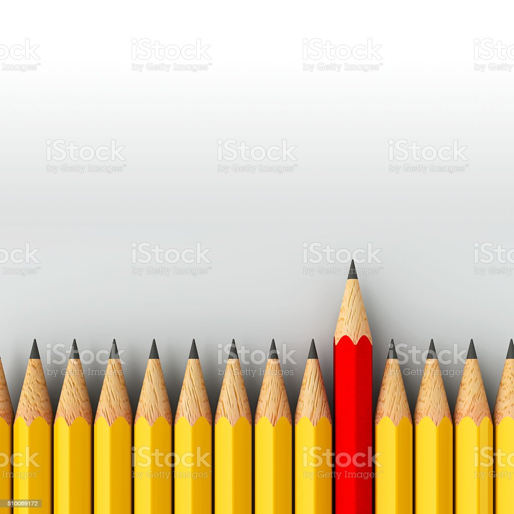 Stand out - pencils stock photo