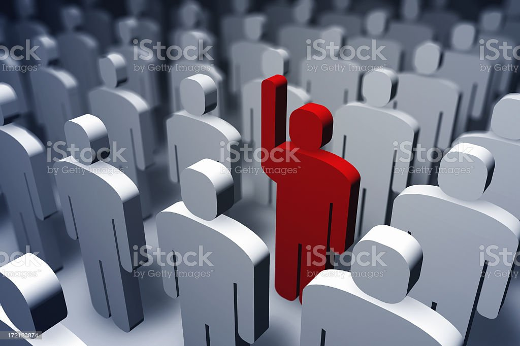 stand out royalty-free stock photo