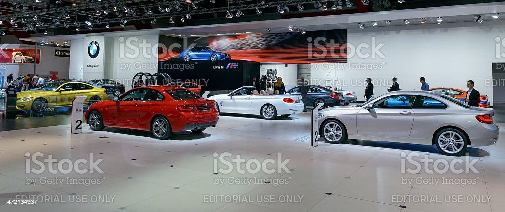 BMW stand stock photo
