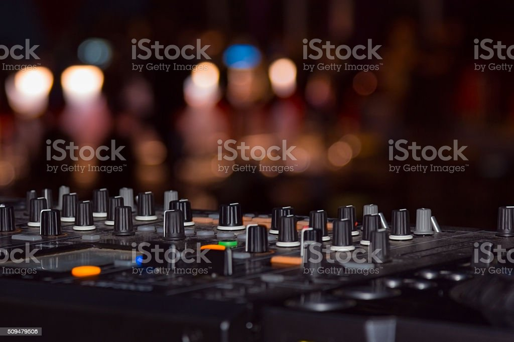 DJ stand stock photo