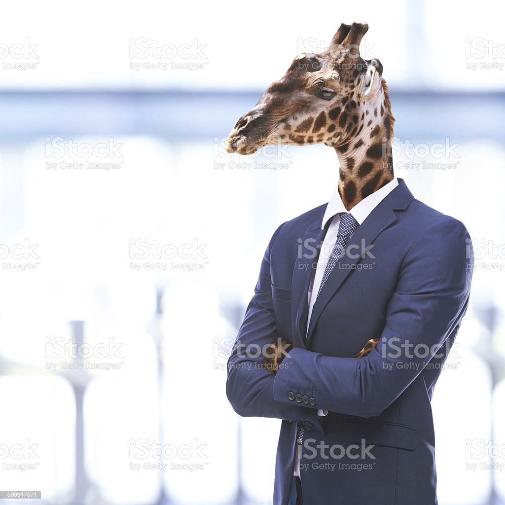 Stand tall and be proud of your success stock photo