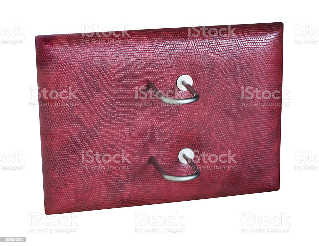 stand under the burgundy leather calendar desk stock photo