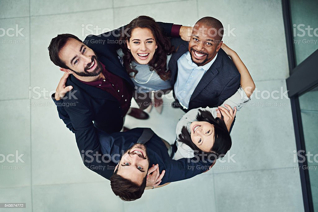 Stand up and stand out stock photo
