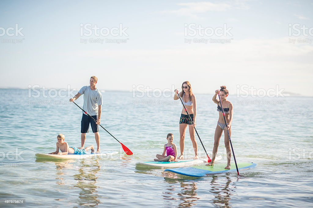 Stand Up Paddle Boarding in Hawaii stock photo
