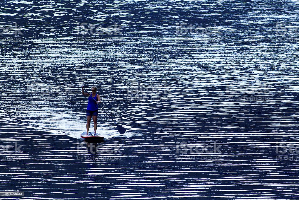 Stand Up Paddleboarding royalty-free stock photo