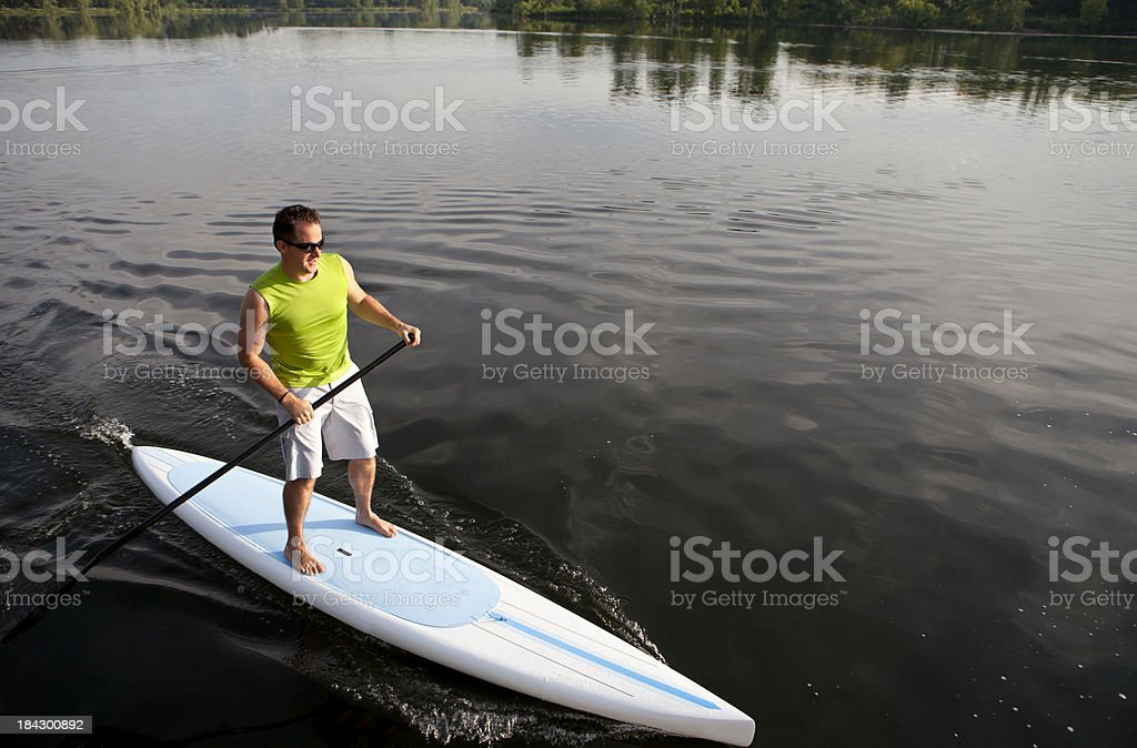 Stand Up Paddling royalty-free stock photo