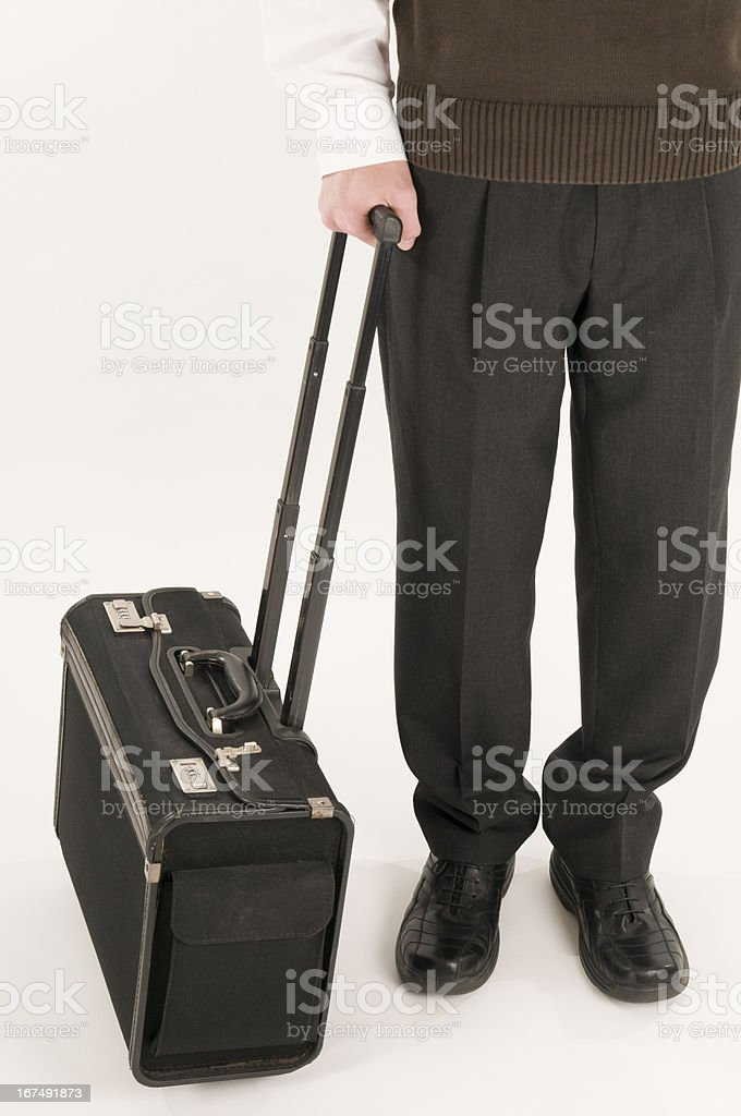 stand up with suitcase stock photo