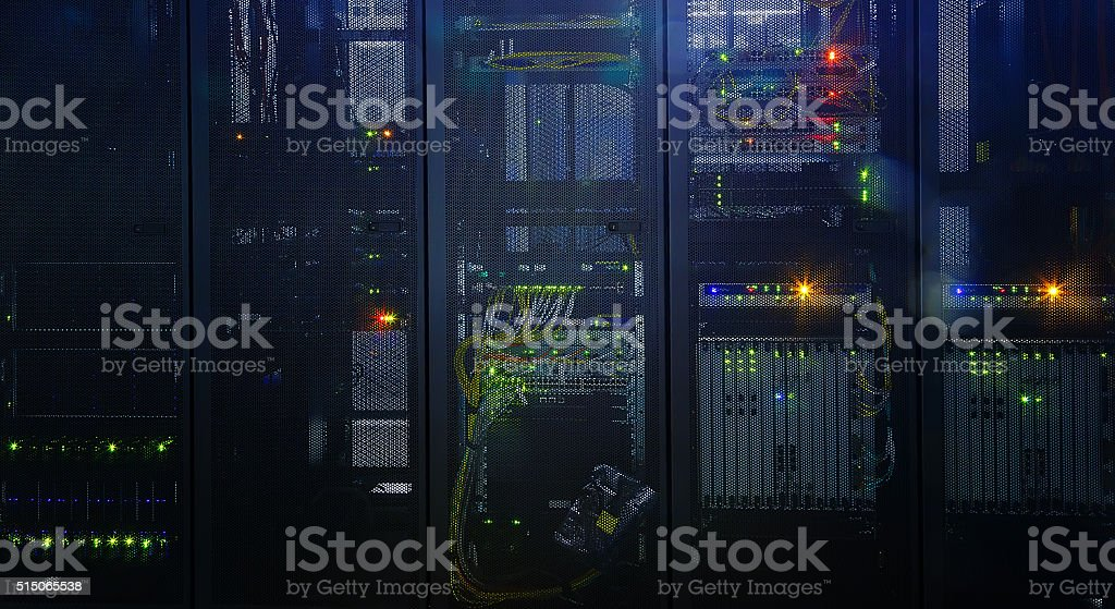 Stand with communications equipment bulb innards stock photo