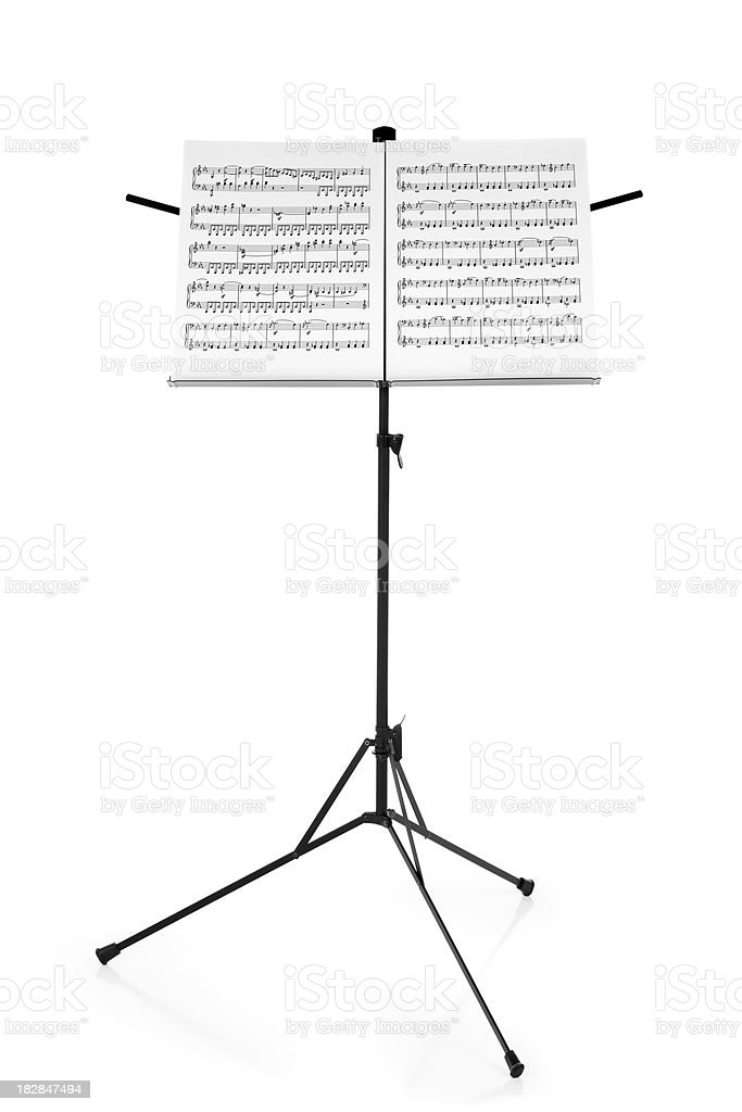 Stand with Sheet Music stock photo