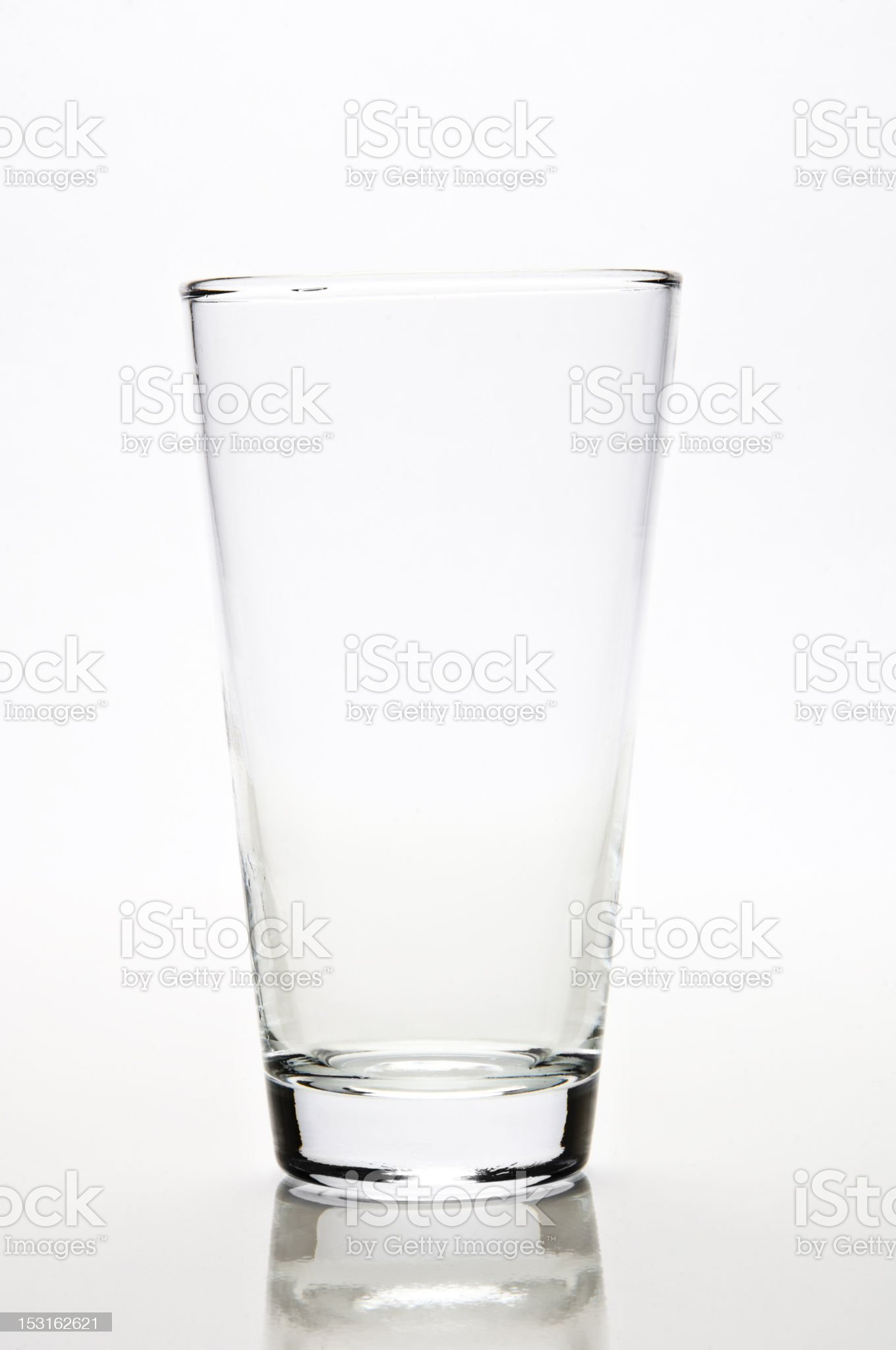Standalone empty glass on white background royalty-free stock photo