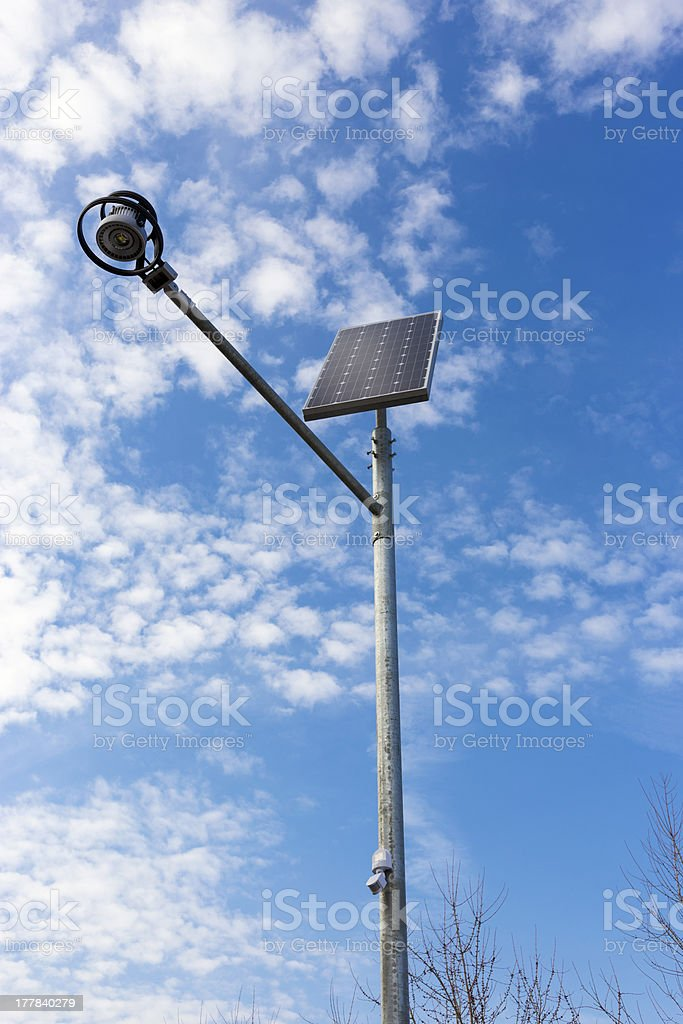 Stand-alone street light with solar battery royalty-free stock photo