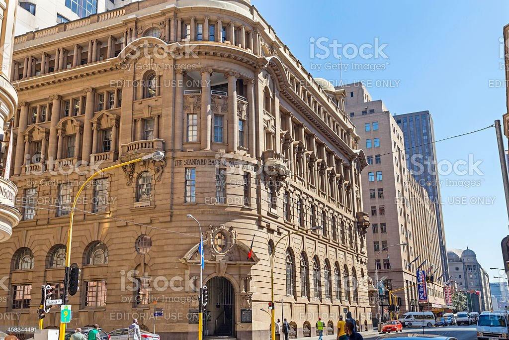Standard Bank Building in Johannesburg stock photo