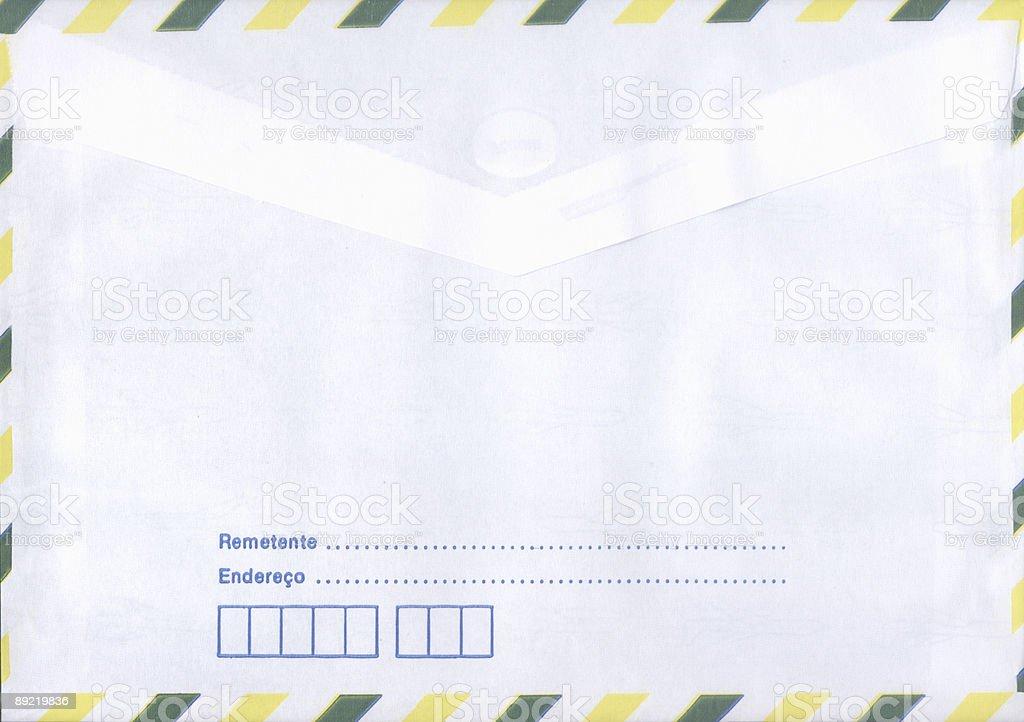 Standard brazilian international envelope stock photo