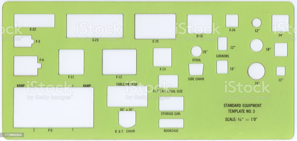 Standard equipment template royalty-free stock photo