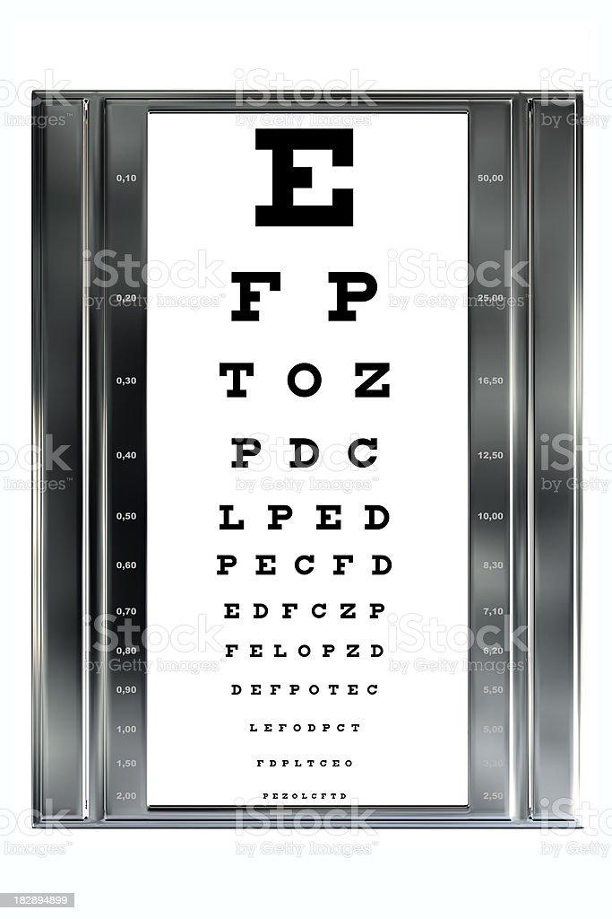 Standard Eye Chart Isolated on White Background (XXXL) stock photo