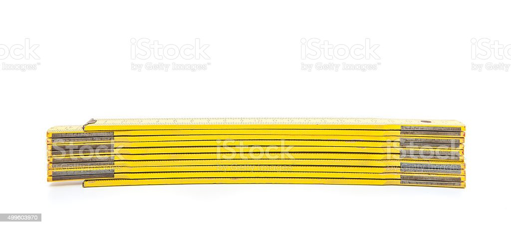 Standard folding meter stick stock photo