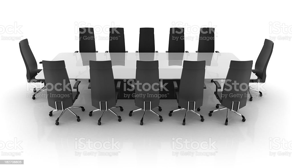 Standard long office conference table royalty-free stock photo