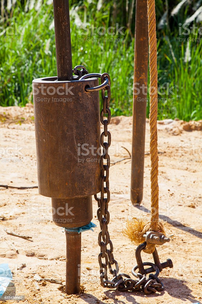 Standard penetration test. stock photo
