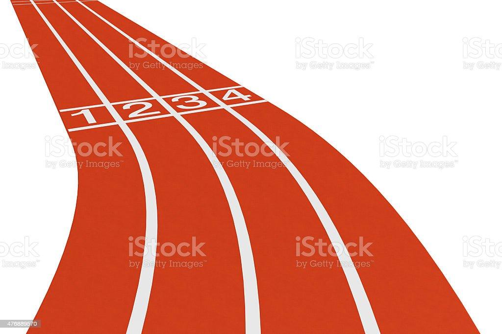 Standard running track stock photo
