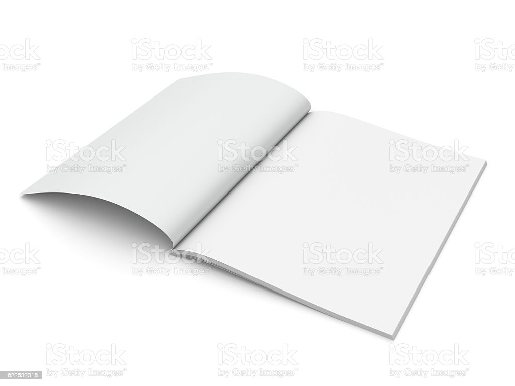 standard size catalog or magazine stock photo