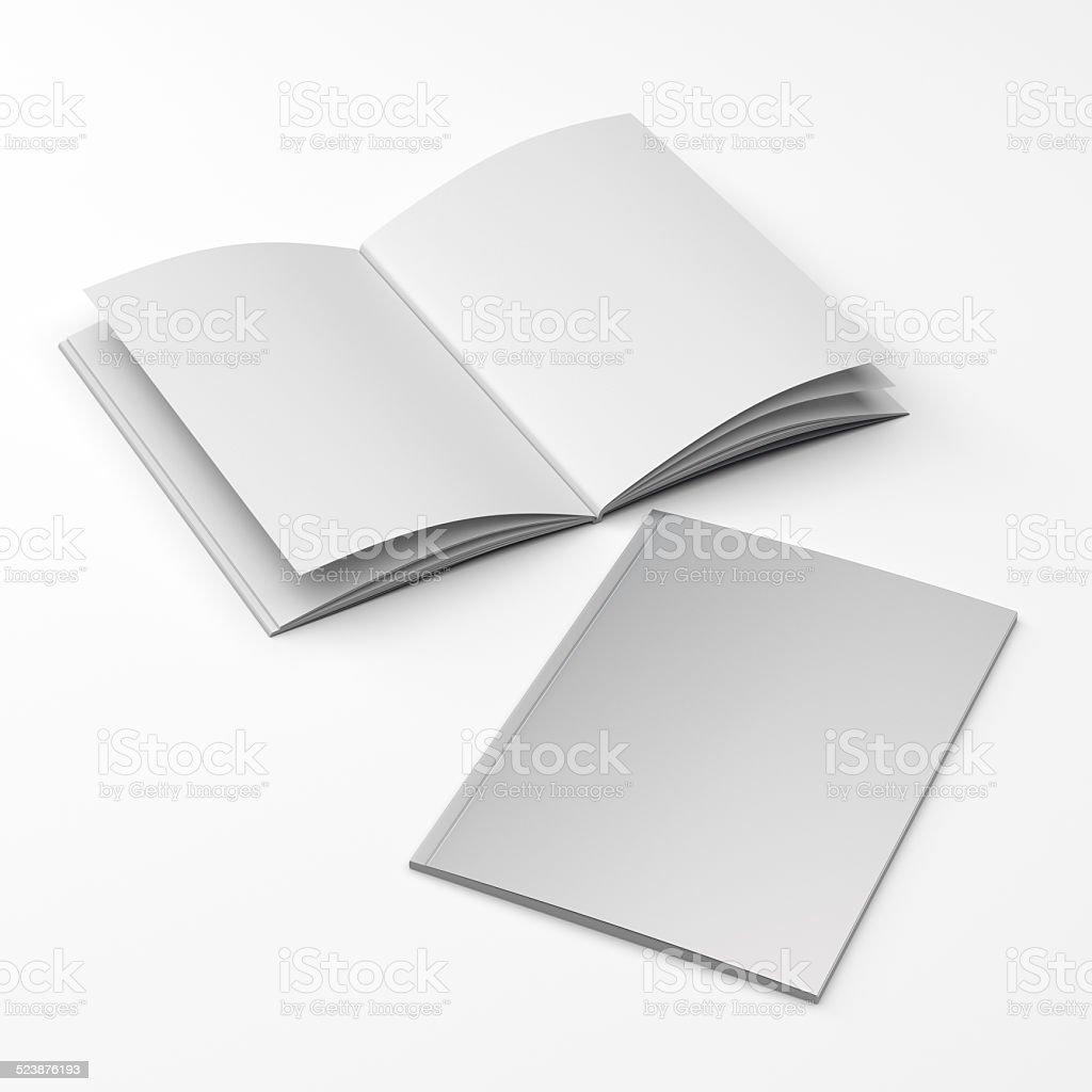 standard size catalogs or magazines stock photo