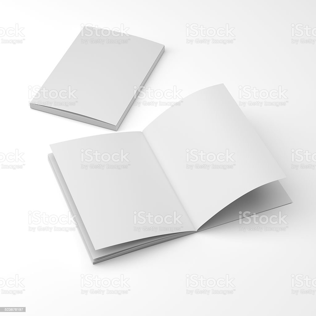 standard size catalogs or magazines stock photo