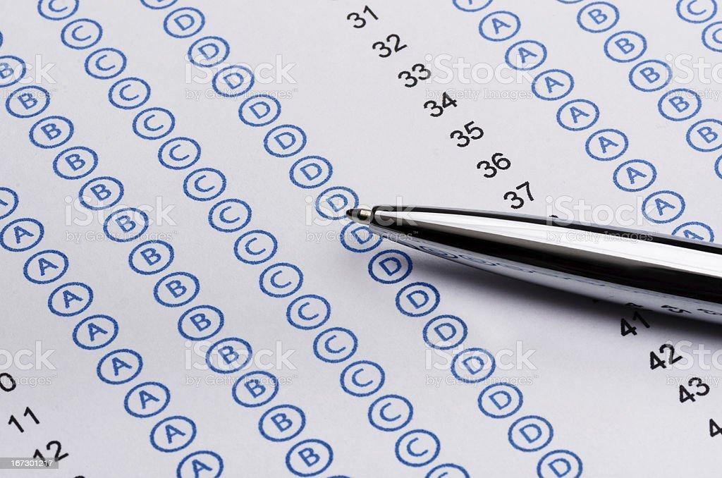 Standardized test royalty-free stock photo