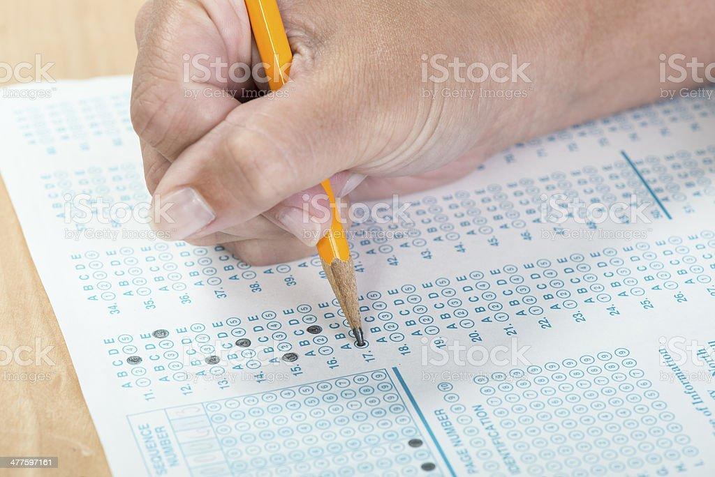 Standardized test taking stock photo