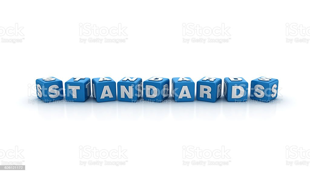 Standards Buzzword Cubes - 3D Rendering stock photo