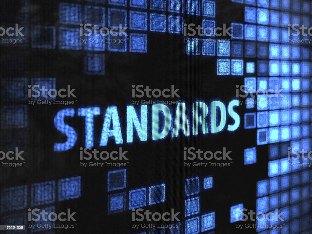 Standards stock photo